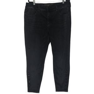 Melissa McCarthy Seven7 Pencil Button Ankle Jeans